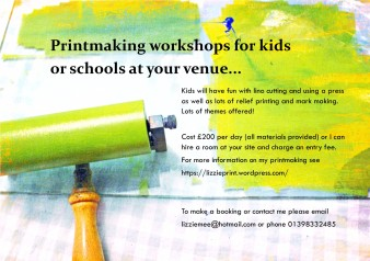 Printmaking at your venue kids